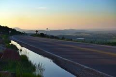 Reservatório de Horsetooth no por do sol Foto de Stock