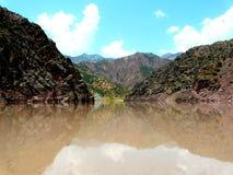 Reservatório de Nurek Imagens de Stock Royalty Free
