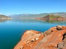 Reservatório de Nurek Fotografia de Stock Royalty Free
