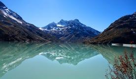 Reservatório de Silvretta Fotos de Stock Royalty Free