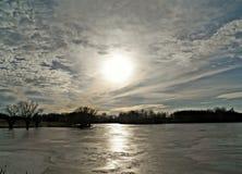 Reservatório de Walborn em janeiro Imagem de Stock Royalty Free