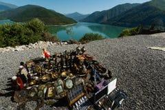 Reservatório militar Georgian de Zhinvali da estrada Imagem de Stock Royalty Free