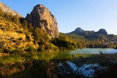 Reservatório no rio de Chorro andalusia Foto de Stock
