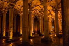 Reservatório subterrâneo da basílica, Istambul, Turquia fotografia de stock royalty free
