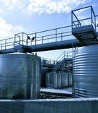 Reservatórios do aço inoxidável Fotos de Stock Royalty Free