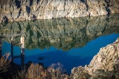 Reservatórios em período da seca na Espanha de Zamora imagens de stock