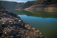 Reservatórios em período da seca na Espanha de Zamora fotografia de stock royalty free