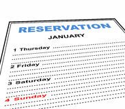 Reservation Stock Images