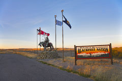 Reservation blackfeet Indians stock photo