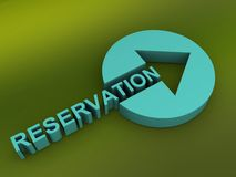 Reservation button with arrow Stock Images
