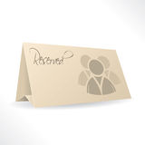 Reservation card with icon Royalty Free Stock Photography