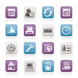 Reservation and hotel icons royalty free illustration