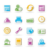 Reservation and hotel icons Royalty Free Stock Image