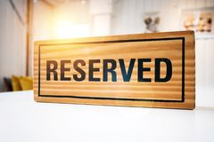 Reservation seat at restaurant for dating on celebrate day Stock Photos