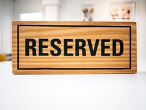 Reservation seat at restaurant for dating on celebrate day Royalty Free Stock Photo