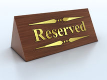 Reservation sign Royalty Free Stock Image