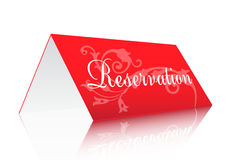 Reservation sign Stock Images