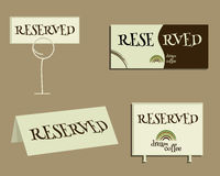 Reservation sign. With Green coffee logo design Royalty Free Stock Photography