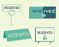 Reservation sign mock up template. Save water Royalty Free Stock Image