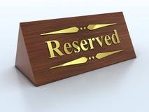 reservationstecken stock illustrationer