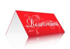 reservationstecken Arkivbilder