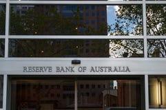 Reservbank av Australien byggnad i Melbourne CBD, Australien Royaltyfria Foton