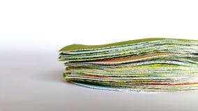 Reservdelstycken av bomullstyger, innan att sys arkivbild