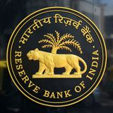 Reserve Bank of India Logo. BANGALORE, INDIA - MAY 7, 2016: Logo of Reserve Bank of India. The Reserve Bank of India is India`s central banking institution Stock Image