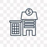 Reserve Bank vektorsymbol som isoleras på genomskinlig bakgrund, lin royaltyfri illustrationer