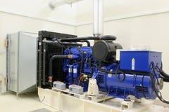 Reserve diesel generator royalty-vrije stock afbeeldingen