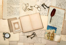 Reserve, imagen de Londres, accesorios del vintage Imagen de archivo libre de regalías