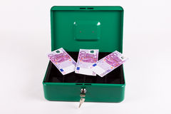 Reserve money in the cashbox Stock Photos