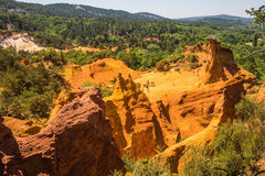 Reserve for ocher mining Royalty Free Stock Images