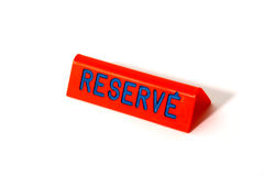 Reserve sign Stock Image