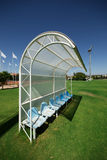 Reserve and staff bench. In sport stadium Royalty Free Stock Photos