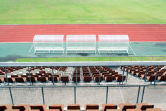Reserve and staff coach bench. In thailand Stock Photos