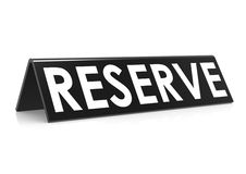 Reserve tag with black Stock Image