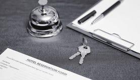 Reserve van de zwart-witte hotelruimte Royalty-vrije Stock Afbeeldingen