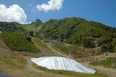 Reserve van sneeuw voor 2014 olympische spelen Stock Foto's