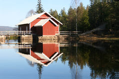Reserve water supply for the city. Reserve water supply for Skien city, in Telemark, south Norway Stock Images