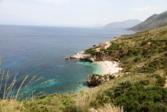 Reserve of the zingaro in sicily Royalty Free Stock Images