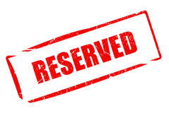 Reserved Royalty Free Stock Images