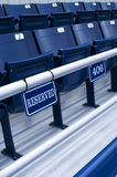 Reserved 406. A vertical photo of reserved seats in a sports arena Stock Photos