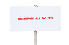 Reserved All hours Stock Photo