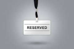 Reserved on badge Royalty Free Stock Images