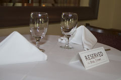 Reserved for Bride and Groom Stock Photography