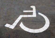 The Reserved car park for handicapped Stock Photos