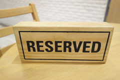 Reserved 3D Wooden Royalty Free Stock Photos