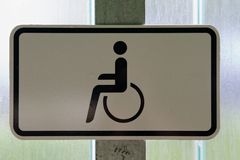 Reserved for disabled Stock Photo
