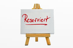 Reserved Stock Photo